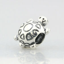 Retired Pandora .925 Sterling Silver Charm Jewelry Turtle