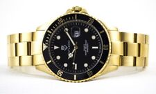Diver's Quartz Watch 30 Bar WD Massive in Gold Plated New Series XXL Large 45mm