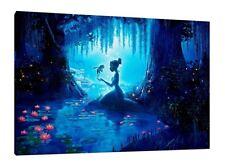 Princesse & La Grenouille 30x20 pouces Toile-Rare Disney Encadrée PHOTO PRINT