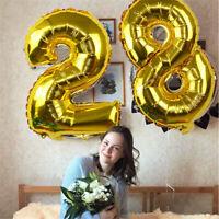 "32"" Number Balloon Digital Balloons Birthday Wedding Festival Party Decor DIY"
