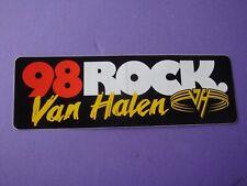 """1995 Van Halen 5150 ? 98 Rock Tampa Radio Station 2 7/8"""" X 8 1/2"""" Bumper Sticker"""