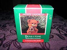 christmas tree decoration, bear-i-tone bear 1989, collectable keepsake