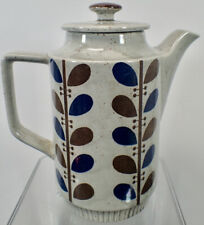 Mid Century Flower Stoneware Coffee Pot by Trimont Ware Japan
