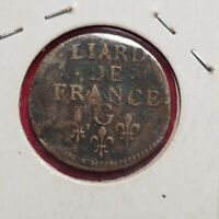 1656 FRANCE Liard  French Colonial Scarce Coin - Lot #233