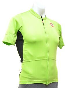 Castelli Imprevisto Nano Short Sleeve Cycling Jersey Men SMALL Green Road Bike