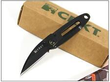 Couteau CRKT Black P.E.C.K. PECK Knife KISS Pince Billets Acier 420J2 CR5520KC