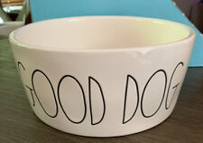 "RAE DUNN Dog Pet ""GOOD DOG"" Food Water Bowl"