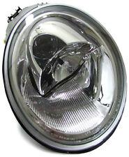 chrome clear finish left side headlight front light for VW New Beetle 98-05