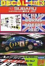 DECAL 1/43 SUBARU IMPREZA 555 R.BURNS RAC 1994 DnF (01)