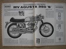 MV AGUSTA 350  S  RADIOGRAFIA DI UNA MOTO CORRIERE DEI RAGAZZI 1972
