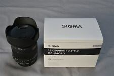 New SIGMA 18-200mm F3.5-6.3 DC MACRO OS HSM Contempory for Canon (APS-C only)