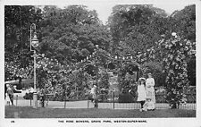 POSTCARD   SOMERSET      WESTON  SUPER   MARE   The  Rose  Bowers  Grove  Park
