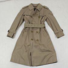 Burberry's Women's Beige Button Up Overcoat Size 11