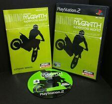 Jeremy McGrath Supercross del mundo juego de Playstation 2 ps2-Completo (sólo 60gb y PS3)