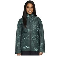 New NORTH FACE Womens Nevermind Ski Snow Jacket Size Large M Green Camo Print