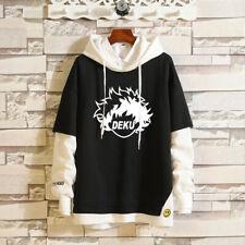 My Hero Academia DEKU Layered Hoodie Colorblock Pullover Sweatshirt Hooded Tops