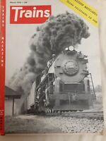 "Vintage ""TRAINS"" THE MAGAZINE OF THE RAILROAD- 1954- Lot of 9 Issues"