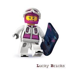 Lego Figur Zubehör Snowboard Dunkelgelb mit Dekor 1157 #