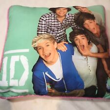 One Direction Boy Band Pillow With Group Picture One Side Metallic Pink on Other