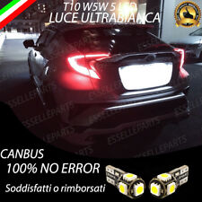 COPPIA LUCI TARGA 5 LED TOYOTA C-HR CHR CH R CANBUS PLUG AND PLAY NESSUN ERRORE