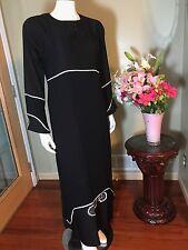 Fancy Khaleeji Abaya Arabic Jilbab With Hijab Made In Dubai Size L 58