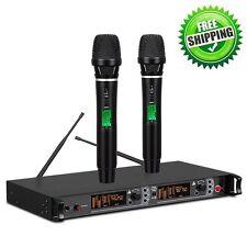 Professional 200 Channels UHF True Diversity Wireless Karaoke DJ Microphone