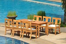 "7pc Grade-A Teak Dining Set 71"" Rectangle Table 6 Osborne Arm Chair Outdoor"