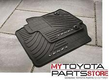 2013-2014 Venza Floor Mats All Weather Mats BLACK 4 PC Set Toyota PT206-0T130-20