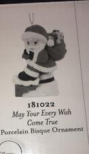Precious Moments May Your Every Wish Come True 2017 Annual Ornament Santa 181022