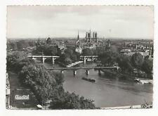 France - Paris, La Pointe de la Cite et les Ponts - Vintage Real Photo Postcard