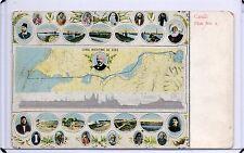 MAP POSTCARD,SUEZ CANAL,CANAL MARITIME DE SUEZ,PLAN NO.2