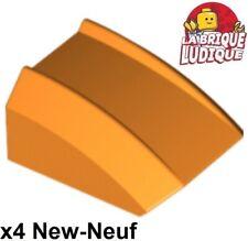 Lego - 4x Slope curved pente courbe 2x2 lip orange 30602 NEUF