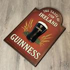 Guinness Wood Bar Sign Taste Of Ireland 1759 Vintage 3D Beer Sign