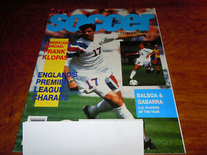 "VINTAGE "" SOCCER INTERNATIONAL "" MAGAZINE - JANUARY 1993"