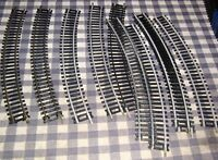 """Lot 12 Pieces TYCO,ATLAS,FELLER HO Scale Curved Track 18"""" Radius,Brass, Steel"""