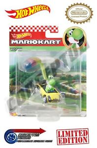 Mario Kart Hot Wheels Glider Toy Cars - Yoshi Sports Coupe & Parafoil