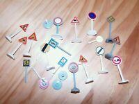 Spur S 1:50 Plastik Bastel Verkehrszeichen Lot Siku und andere Teile