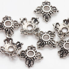 100PCS Wholesale Tibet Silver Flower Spacer Loose Bead Caps Jewelry Making DIY