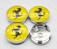 4Pcs 60mm Car Wheel Center Hub Caps Badge Rim Dust Cover Logo for Ferrari