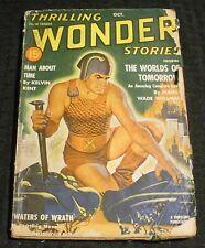 1940 Oct THRILLING WONDER STORIES Pulp Magazine v.18 #1 GD+ 2.5 Manly Wellman