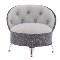 Miniature Gray Single Sofa Chair Furniture Toy for 1/6 Action Figure Dolls