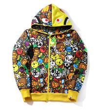 Cartoon Baby MILO Monkey Bape A Bathing Ape Full Zip Hoodie Sweatshirt Jacket