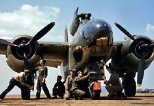 "Douglas A-20J Havoc Bomber maintenance crew 13""x 19"" WWII Color Photo Poster"