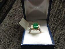 Bahia Emerald &Diamond 2.4ct Y Gold Ring Size N
