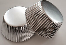 50 pcs Silver Cupcake Liners Baking Cup Shiny Aluminum Foil Wedding liner cups