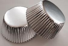 50 pcs Silver Cupcake Liners Baking Cup Shiny Aluminum Foil Metallic liner cups