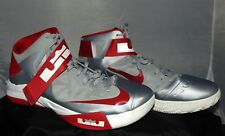 959ff032f7b NIKE ZOOM SOLDIER IV LEBRON JAMES MEN S GRAY RED SHOES SIZE 18  525017003  2012