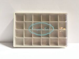 Authentic Origami Owl Off-White Charm Jewelry Tray w/ Clear Plastic Insert