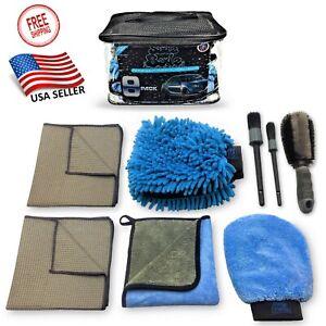 SUDZ BUDZ 8pcs Premium Car Wash Kit, Car Detailing Kit, Car Cleaning Kit