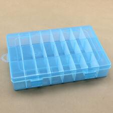 Clear Compartments Plastic Storage Box Case Craft Organizer Jewelry Bead Display